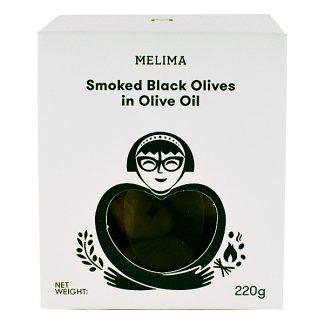 Καπνιστές μαύρες ελιές σε ελαιόλαδο 220 γρ
