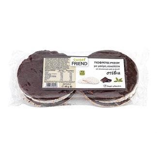 Γκοφρέτες ρυζιού βιολογικές με μαύρη σοκολάτα και stevia Sweetfriend 65 γρ