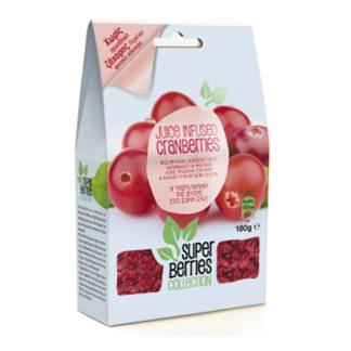 Cranberries χωρίς ζάχαρη Super Berries 180 γρ