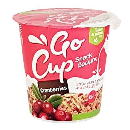 Βιολογική βρώμη με cranberries Go Cup 65gr