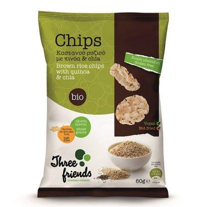 Βιολογικά chips ρυζιού με chia και κινόα 60 γρ