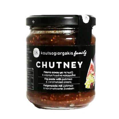 Chutney σύκου με καραμελωμένα κρεμμύδια και πετιμέζι Κουτσογιωργάκη 230 γρ